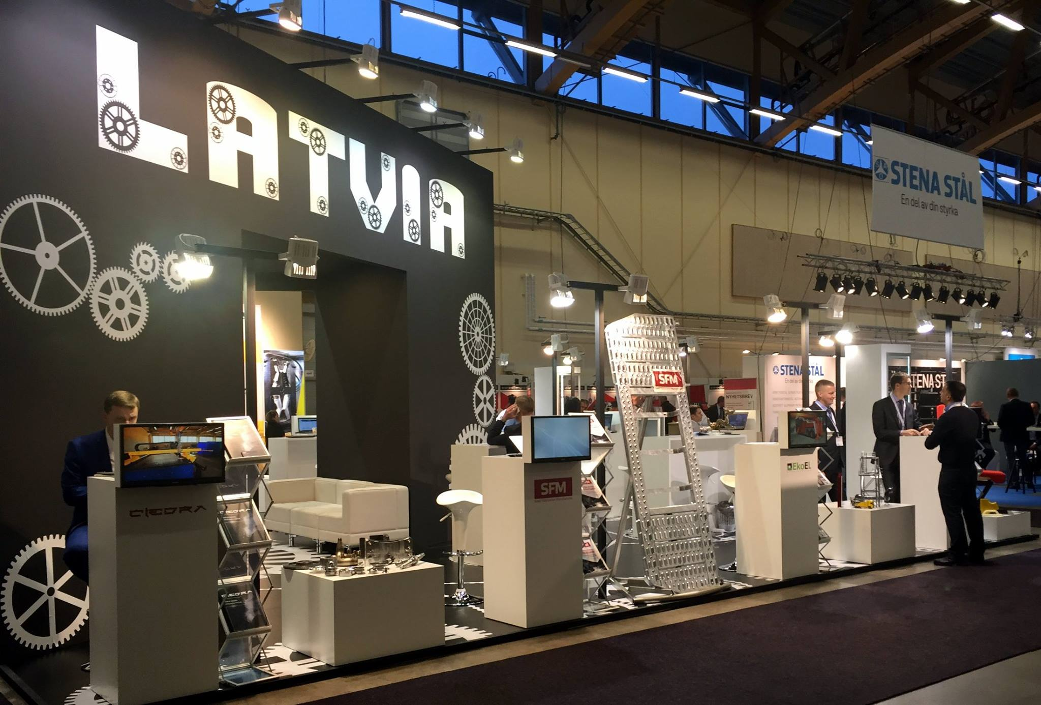 Exhibition Stand Industrial : Quot ciedra participates in national stand of latvia during